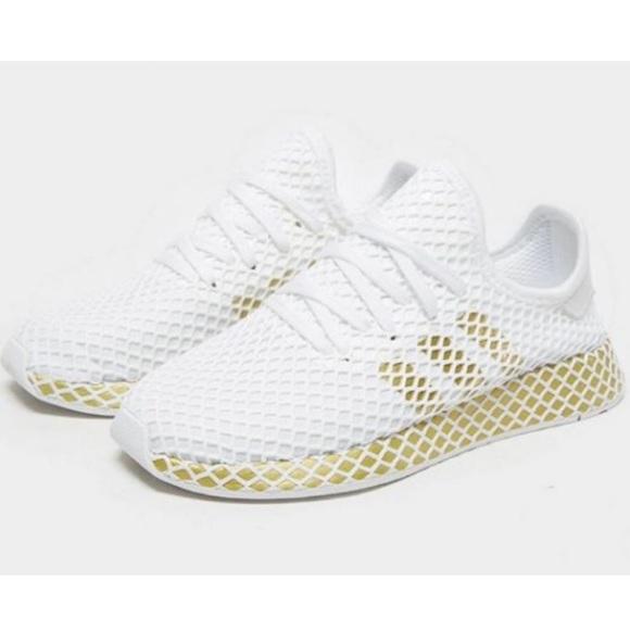 adidas deerupt gold white